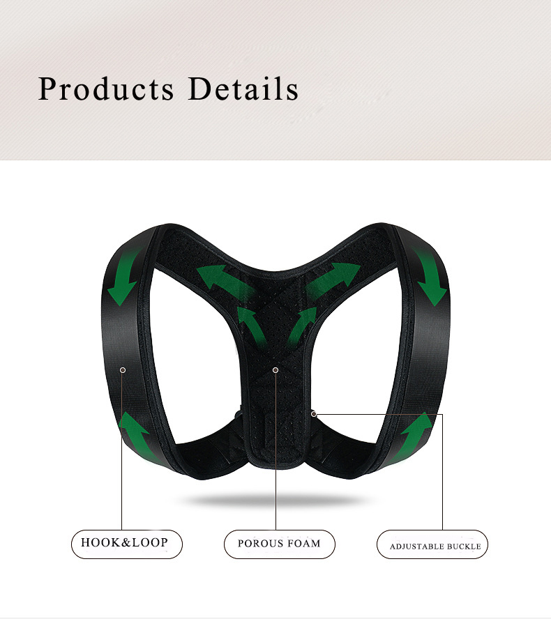 Adjustable Back Posture Corrector Spine Back Shoulder Lumbar Brace Support Belt Posture Correction Back Belt