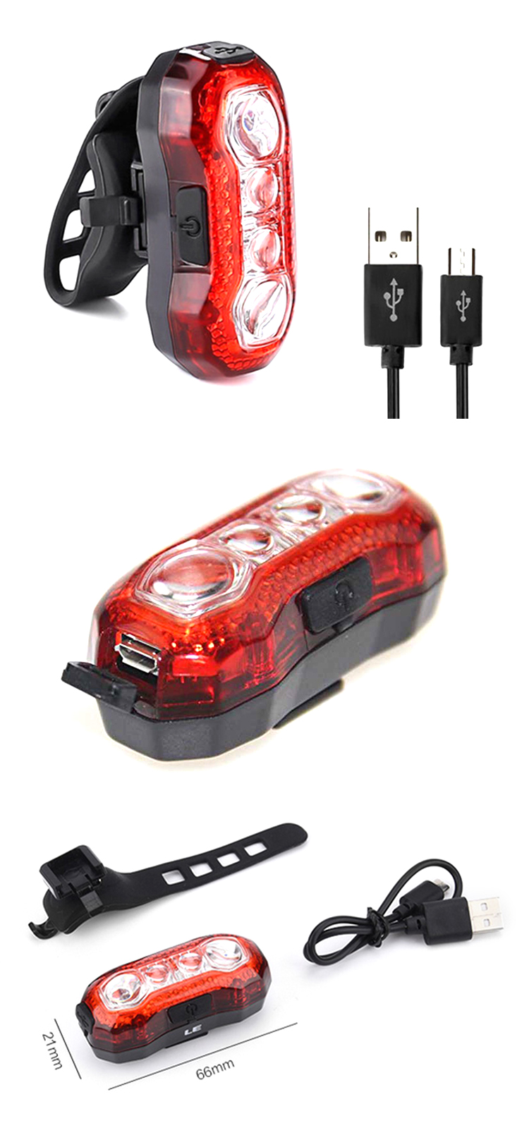 Hot Selling Mini Silicone LED Flashing Bike Light For Night Warning