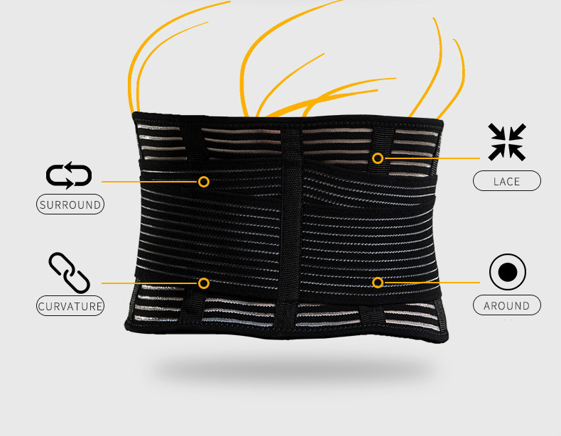 Men/women Spine Support Belt Steel Plate Support Gym Fitness Weight lifting Squat Sport  Lumbar Belt Waist Trimmer